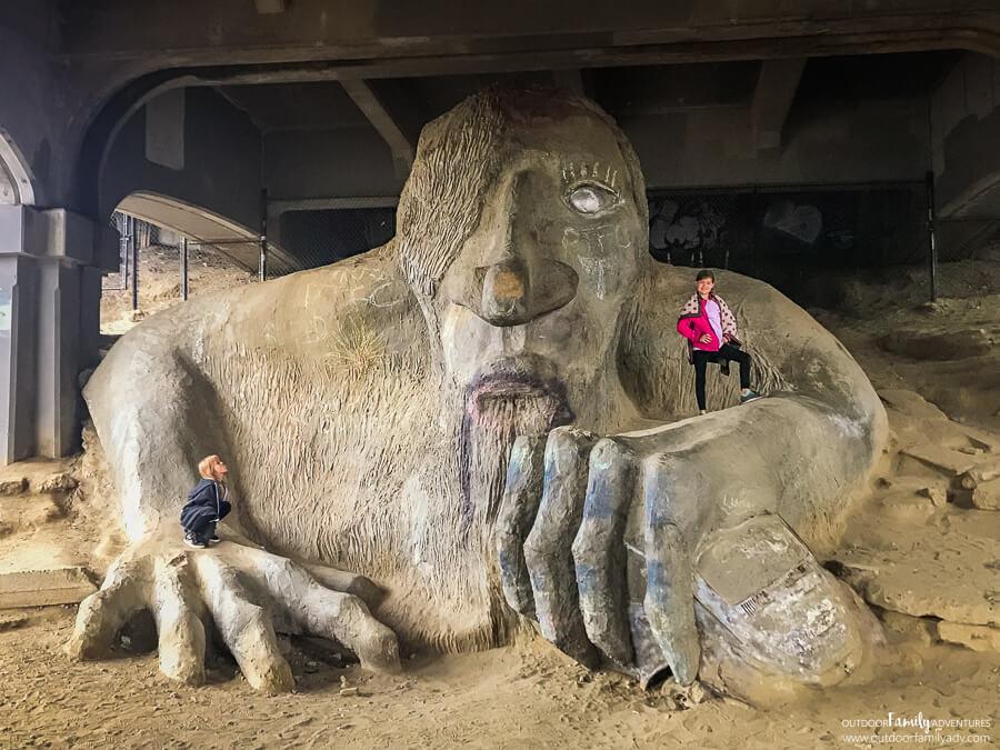 Aurora Bridge Tourist Troll Kid-Friendly Fun PNW